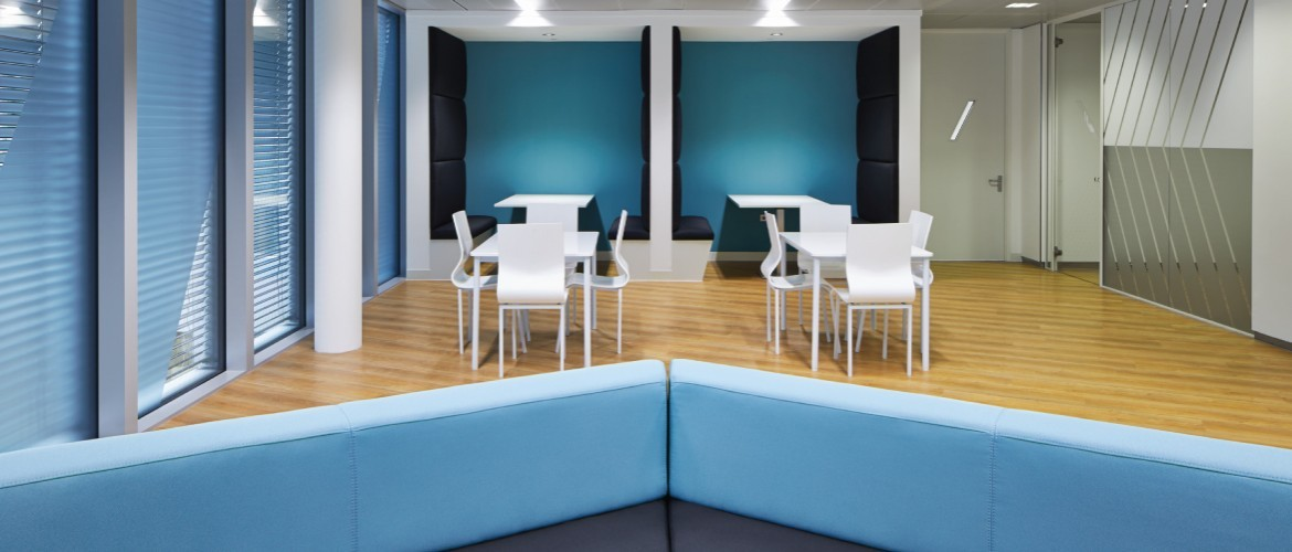 Bespoke furniture for the breakout space as part of office refurbishment