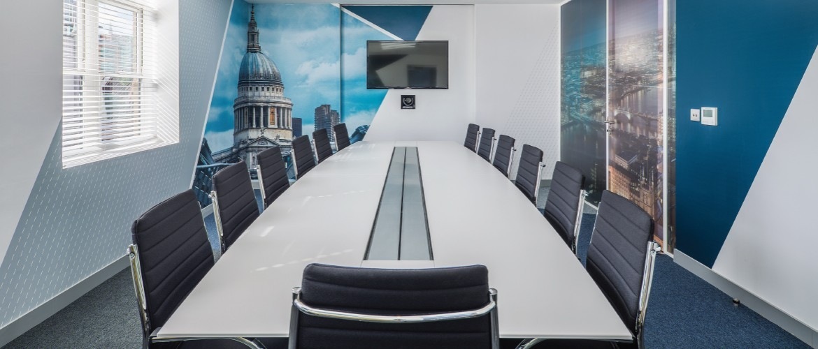 Office refurbishment with Decorbrand printed window film and wall paper