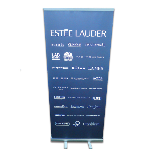 Printed pull up banner for Estee Lauder