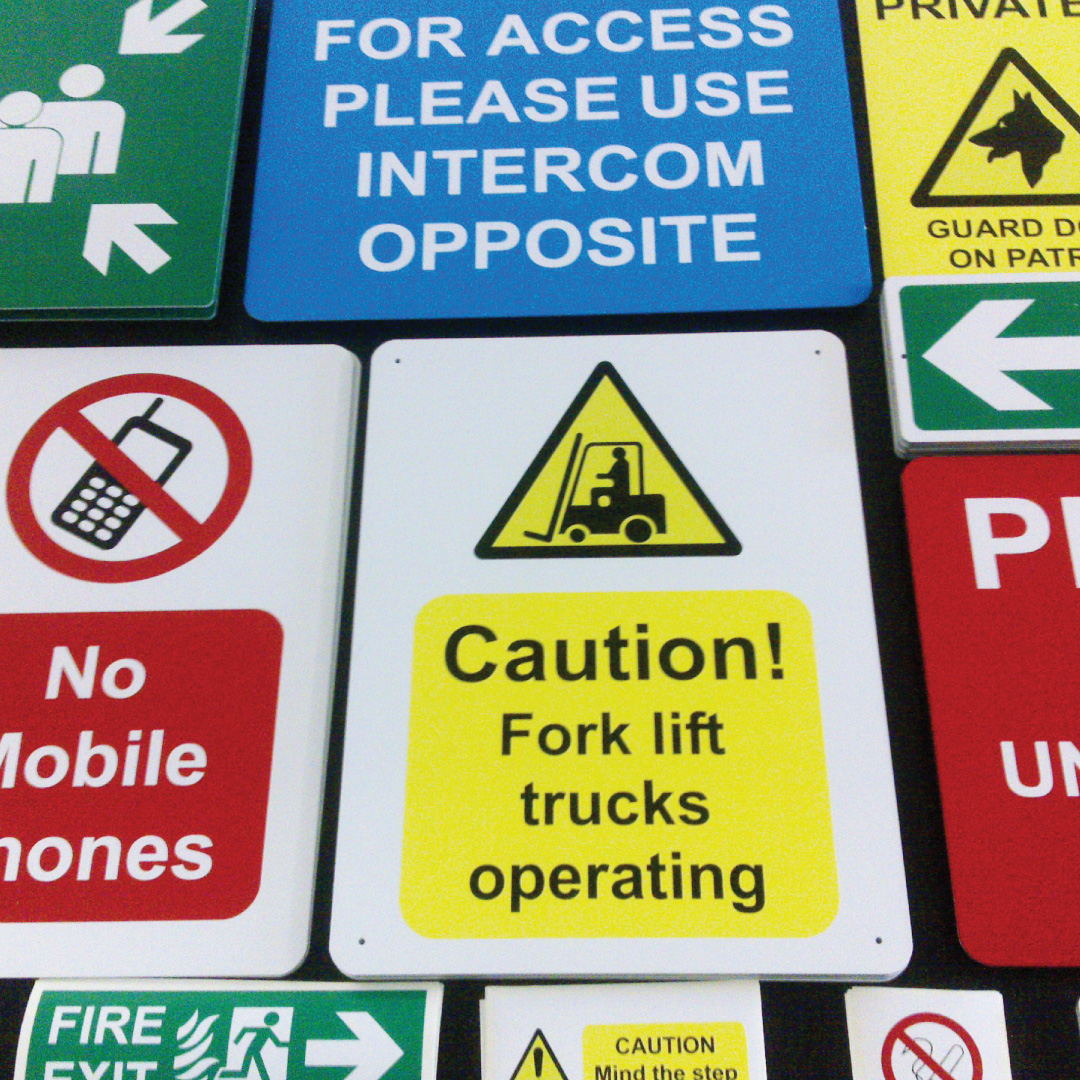 Health and safety signage