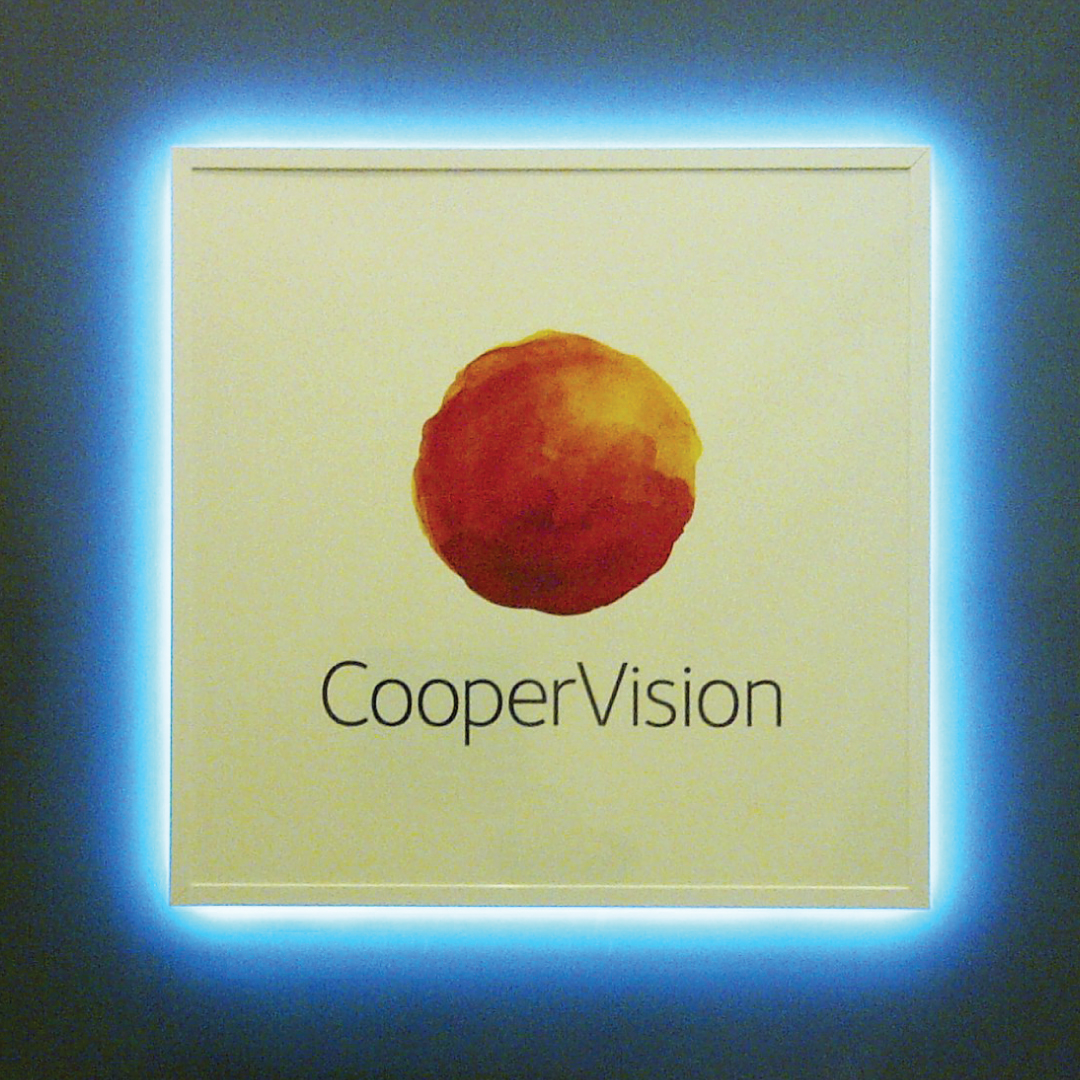 Interior acrylic sign with digital print applied and LED lit