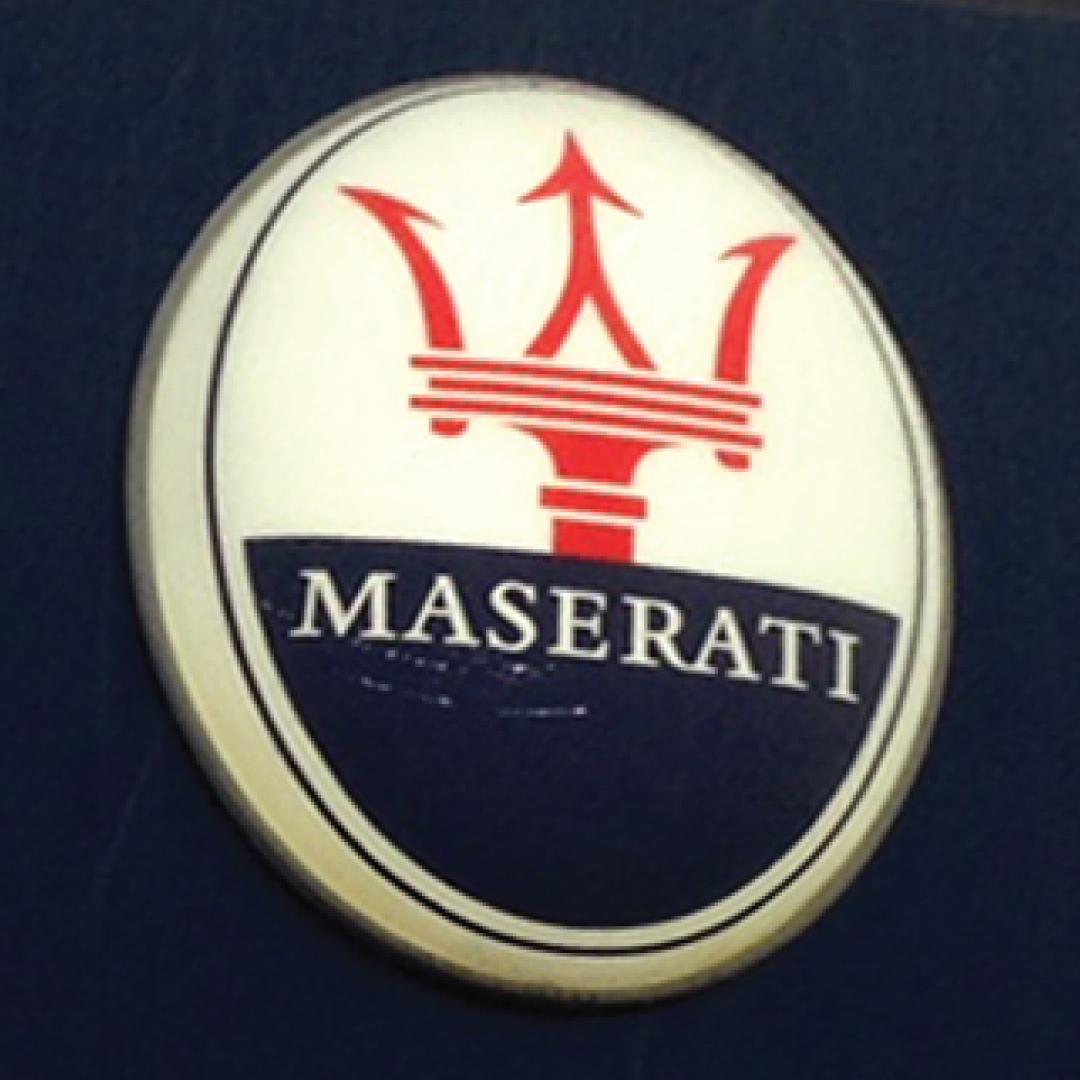 Maserati exterior lit sign for Joe Macari