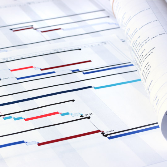 Project management planning charts