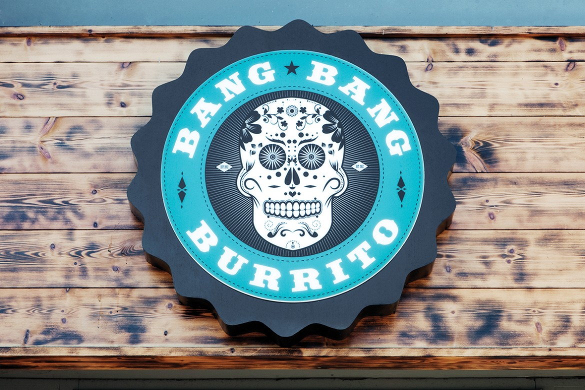 LED back lit exterior sign for Bang Bang Burrito