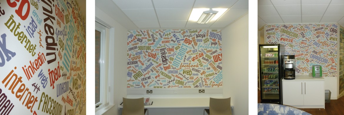 Digitally printed fabric backed Decorbrand wall paper