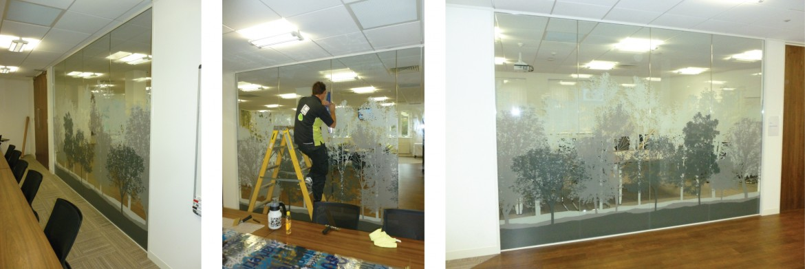 Digitally printed optically clear Decorbrand window film