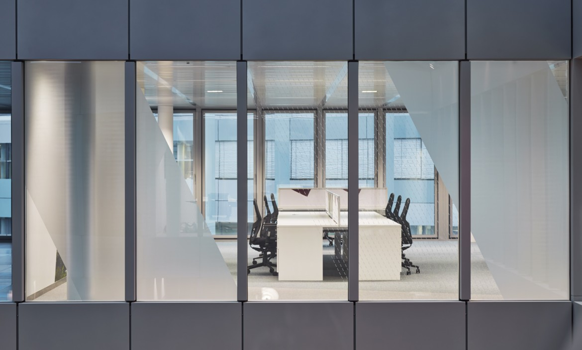 Completed office refurbishment with Decorbrand printed window film