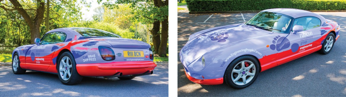 Vehicle colour change wrap for Rubicon Recruitment Group TVR