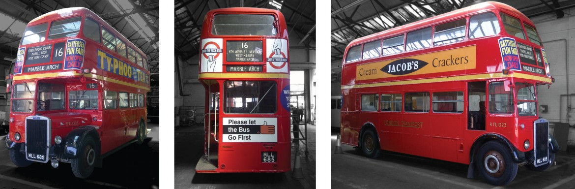 London bus printed graphics for Xelabus