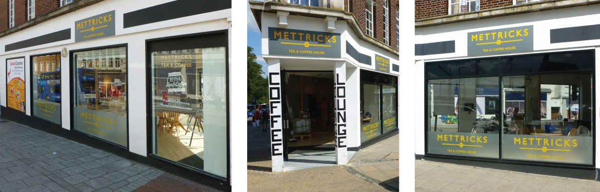 Temporary shop signage and window graphics