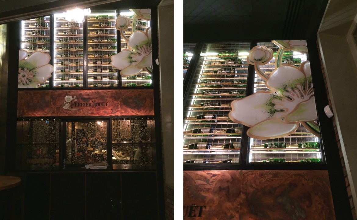 Interior signage for Perrier Jouet