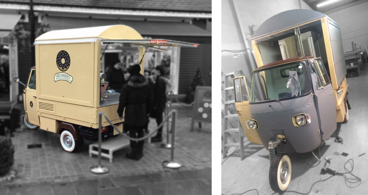 Full colour change wrap to piaggio ape