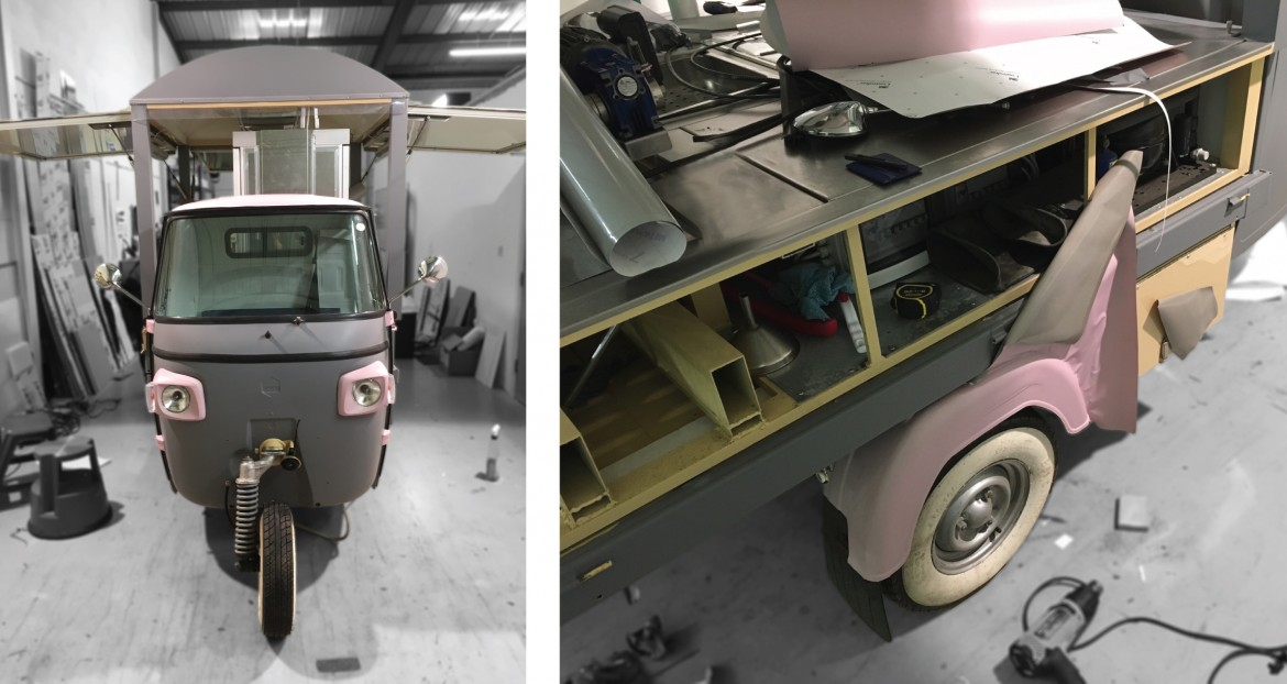 Piaggio ape complete colour change using wrapping vinyl