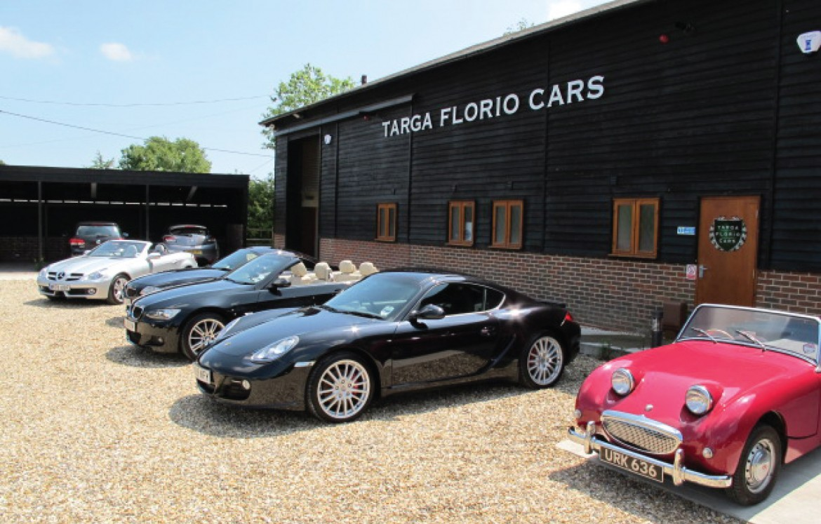 Exterior signage for Targa Florio Cars