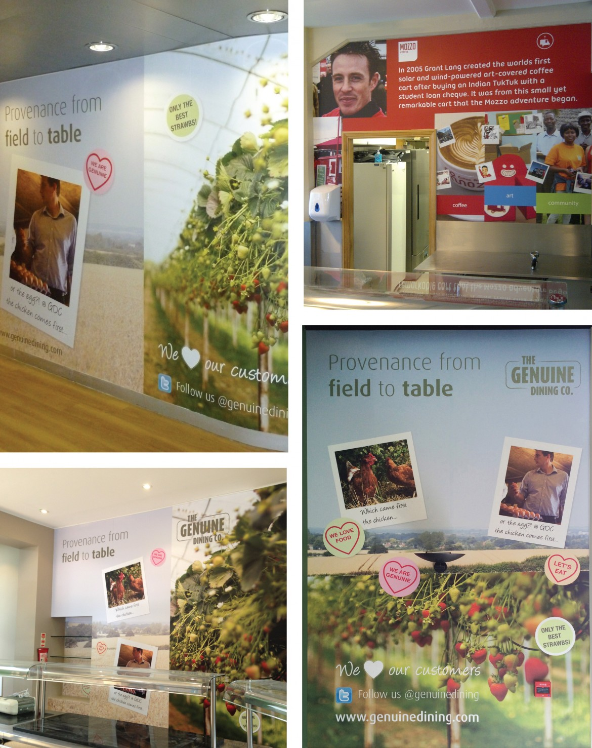 Printed anti scratch laminated vinyl for The Genuine Dining Company