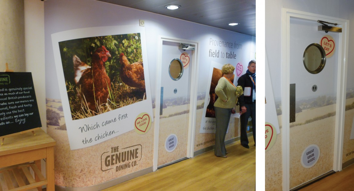 Printed vinyl with anti scratch laminate for The Genuine Dining Company
