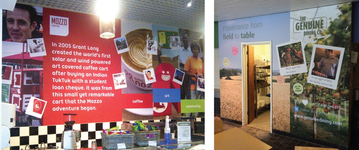 Large format printed vinyl with anti scratch laminate for The Genuine Dining Company
