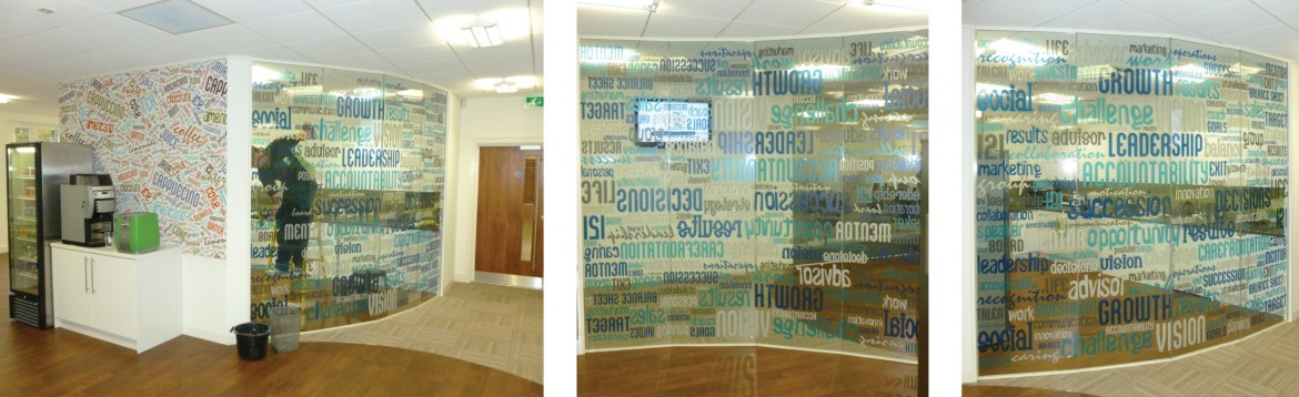 Digitally printed Decorbrand optically clear window film