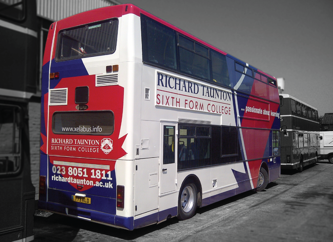 Full colour wrap for Xelabus  Taunton College