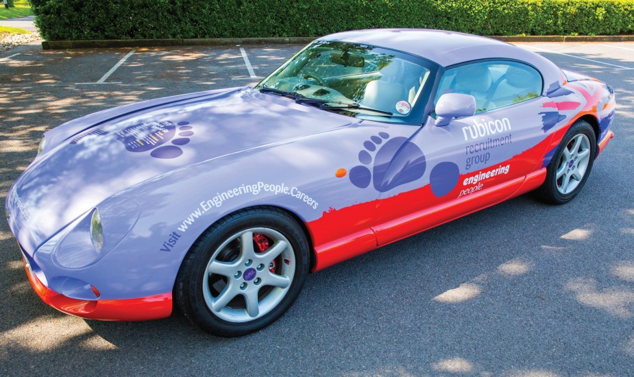 Full car wrap digitally printed and applied to 'The Beast' TVR for Rubicon Recruitment Group
