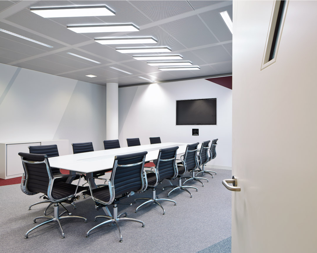 Bespoke LED light sheet for meeting room