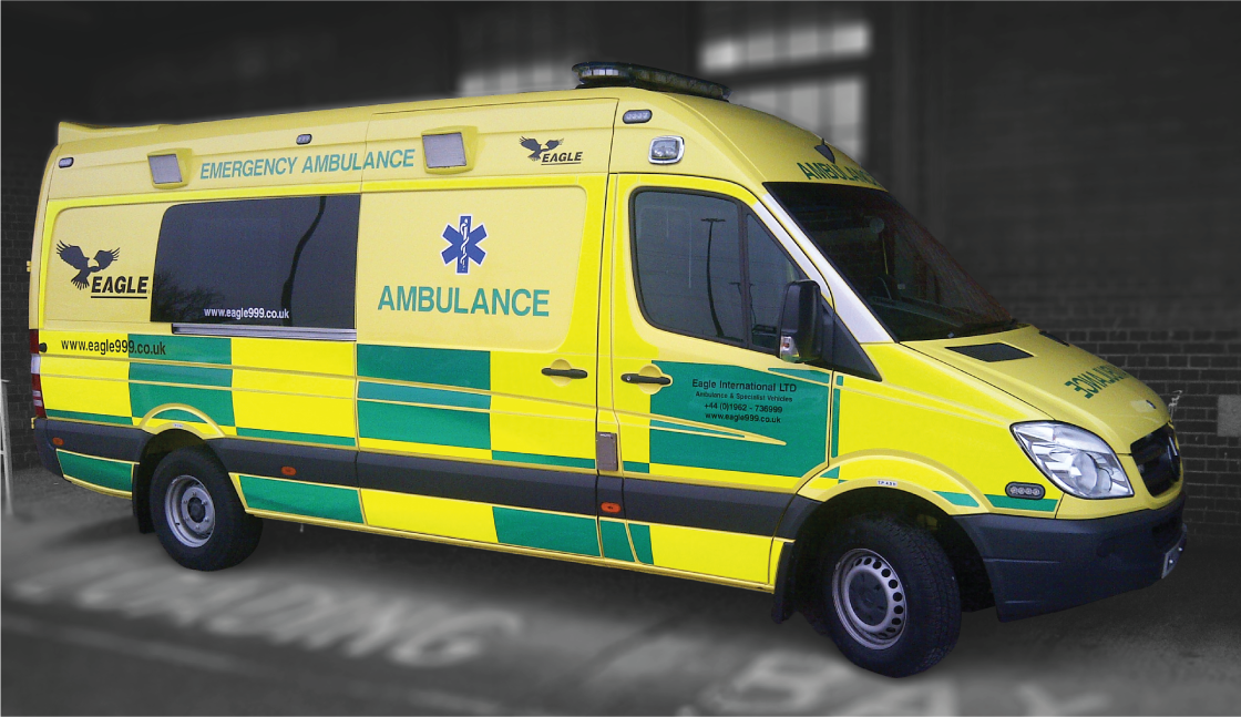 Class 1 reflective ambulance graphics for ERS Medical