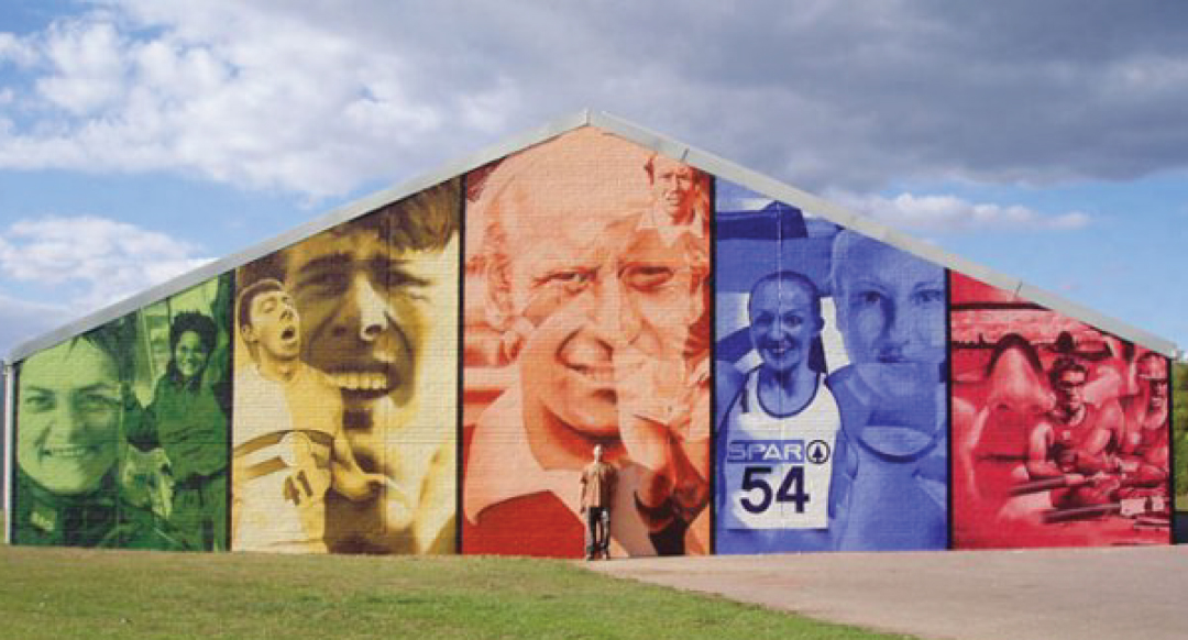 Hand painted mural for Southampton City council