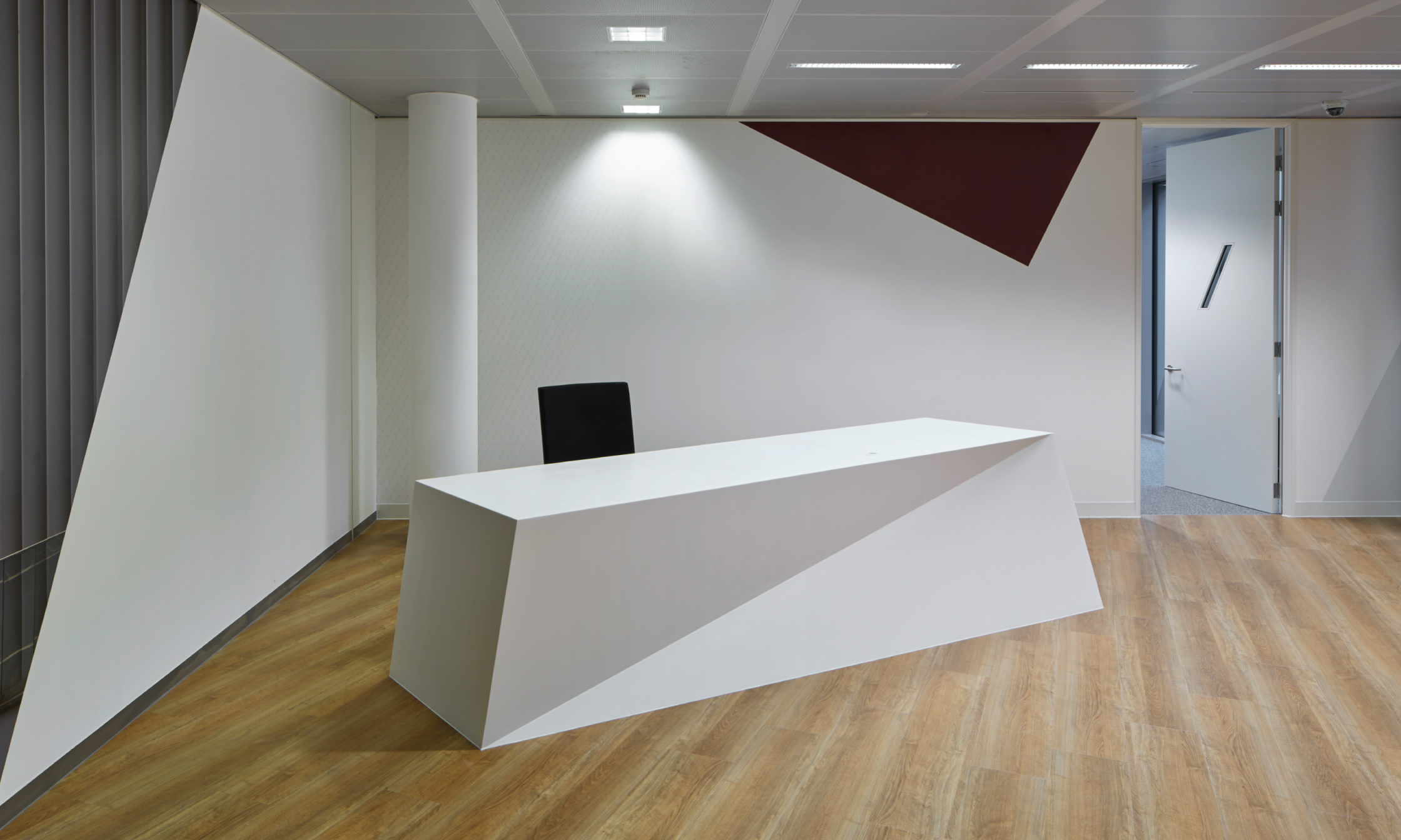 Bespoke reception desk for office refurbishment