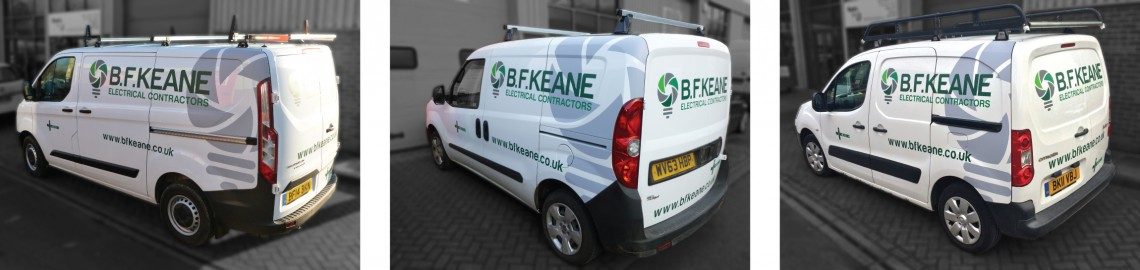 fleet vehicle graphics for BF Keane