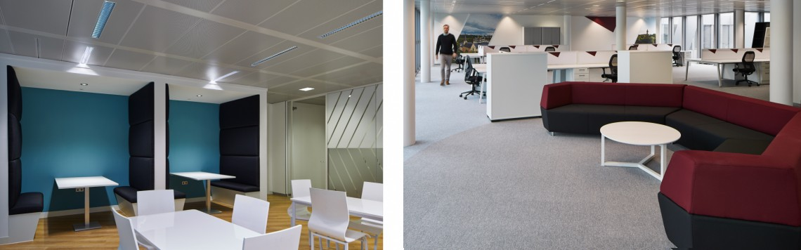 Bespoke seating pods and breakout furniture for office refurbishment