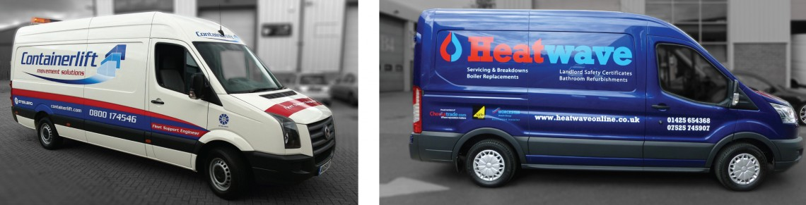 Van graphics for Heatwave & Containerlift