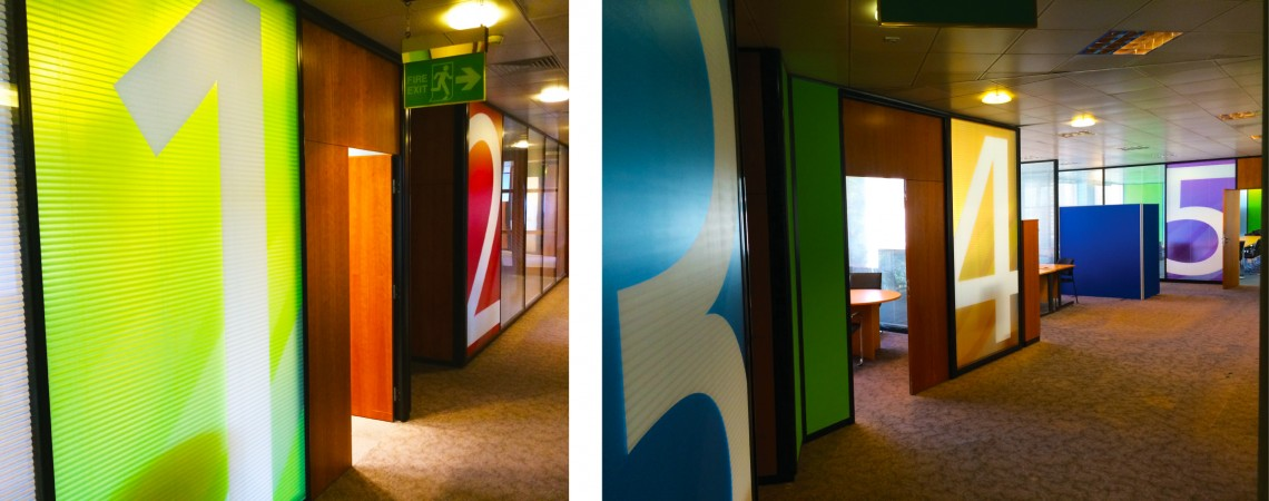 Printed office glass window film for Newsquest