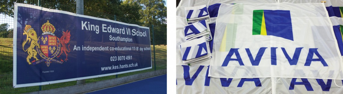 Digitally printed banners and flags