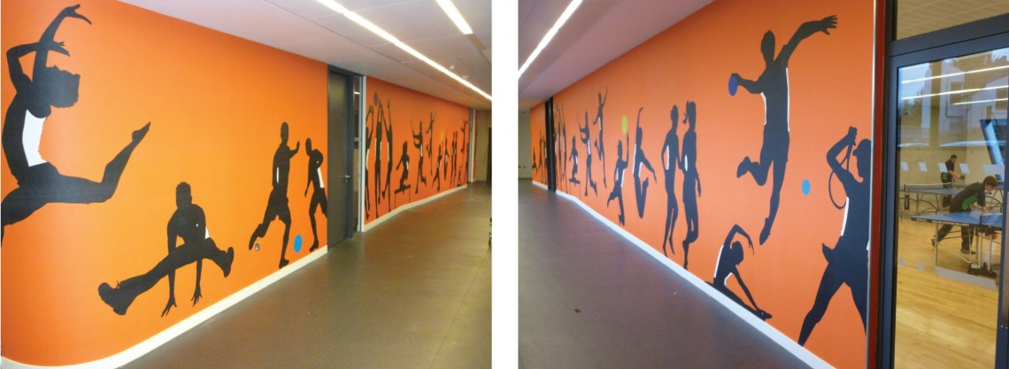 Digitally printed wall graphics for Evelyn Grace Academy