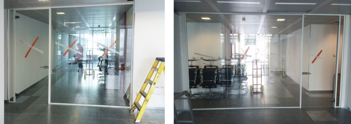 Glass partitions for office fit out