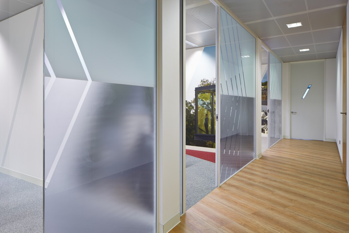 Printed etched Internal office finished partitions