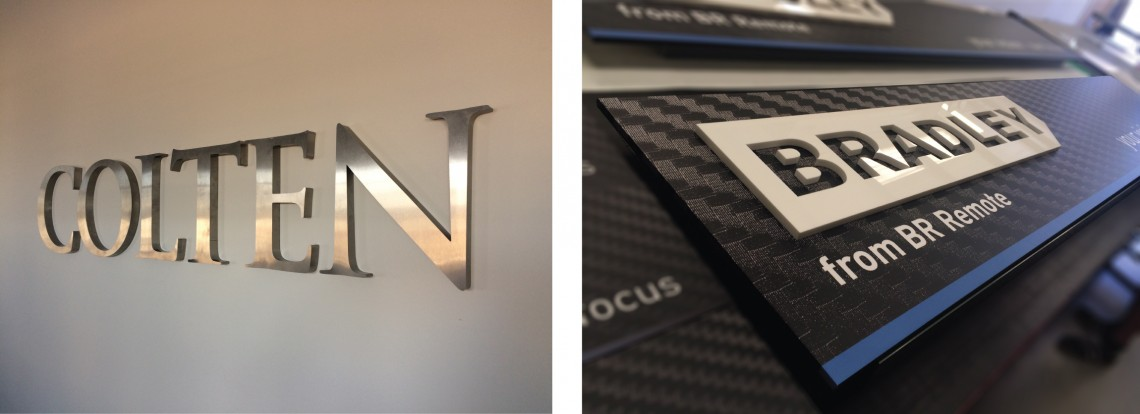 Internal-office-signs-3D-polished-steel--carbon
