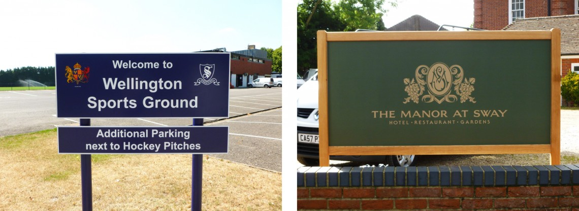 Outdoor-entrance-sign-for-school