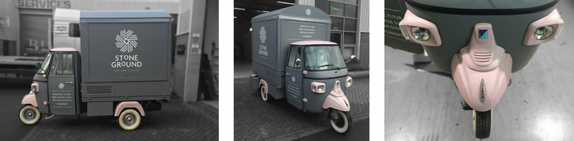 Full vehicle wrap to piaggio ape