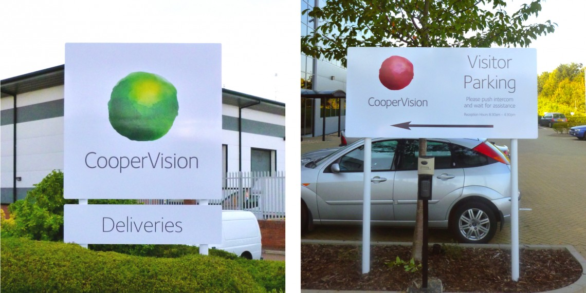 Plate-and-post-exterior-wayfinding-signage