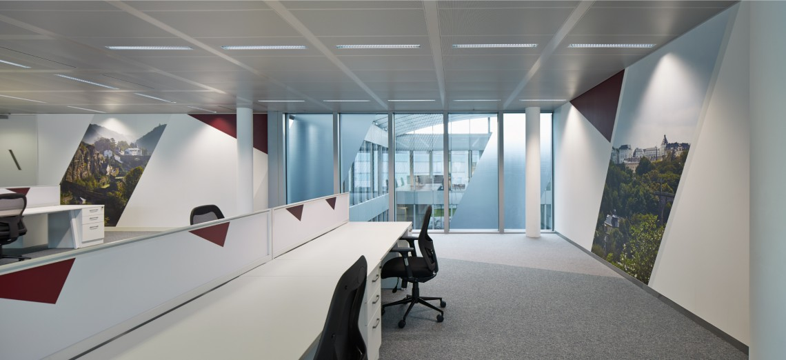 Decorbrand printed wall and window graphics for office refurbishment