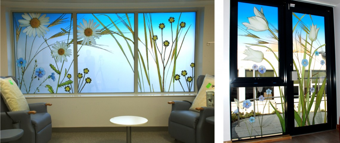 NHS waiting room window graphics