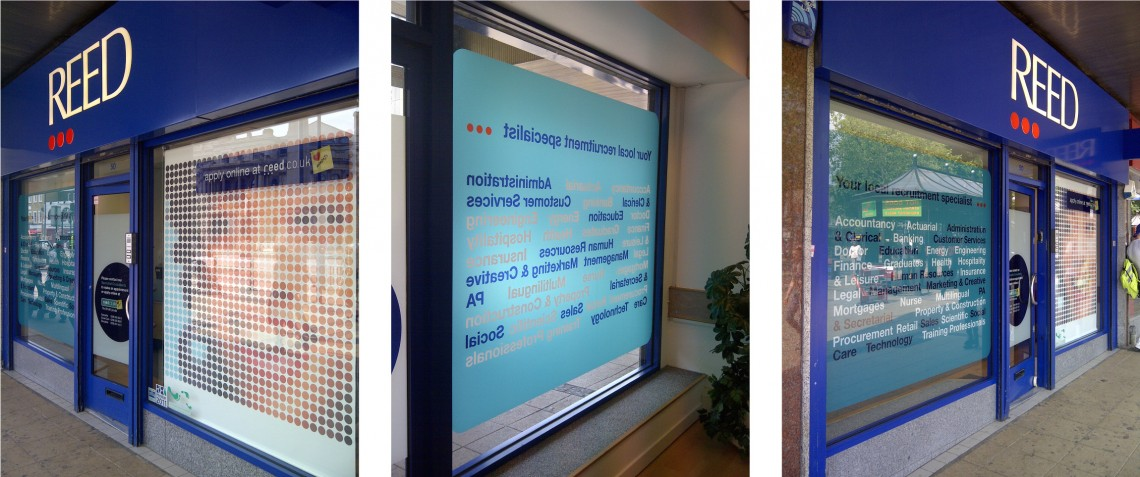 Reed recruitment window graphics