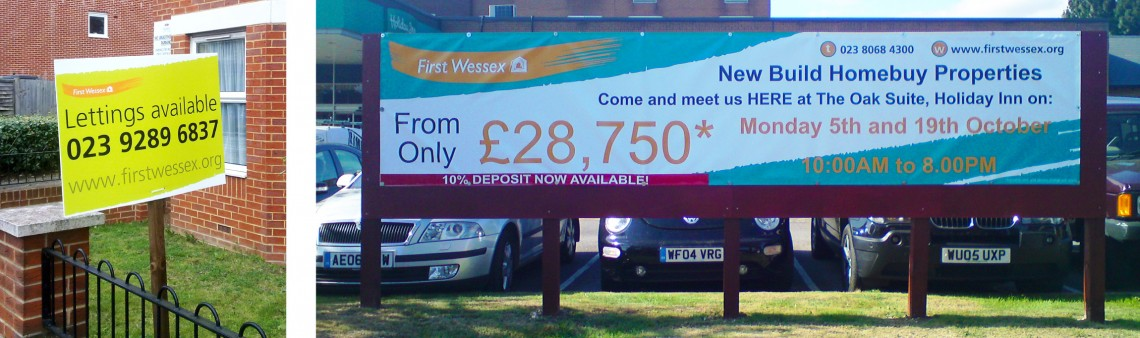 First Wessex site signage