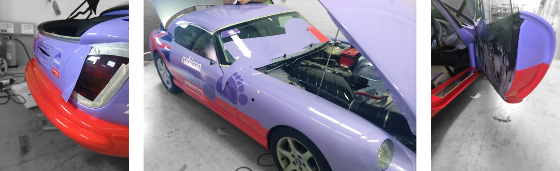 TVR full vehicle wrap to colour change